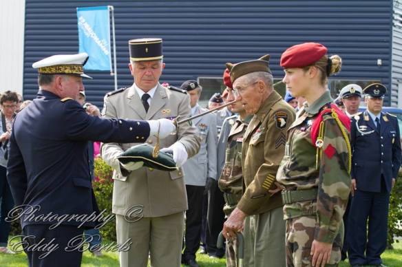 Receiving the Legion of Honor