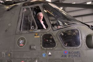 RF Curtis visits 846 Squadron