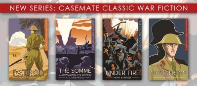War fiction website banner