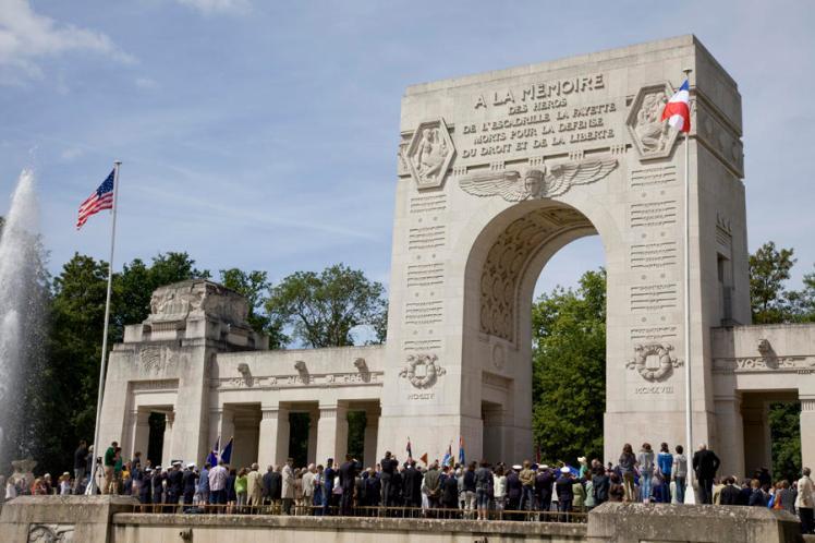 Mémorial de l'Escadrille La Fayette; jour du souvenir americain 28 mai 2011