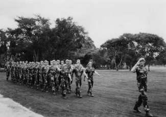 19 SAS on parade