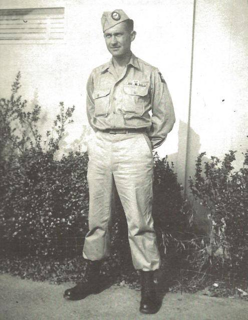 Corporal Francis McLane of I Company was severely wounded when 'the Factory' at Anzio was shelled on February 5, 1944. Photo courtesy of the McLane family.